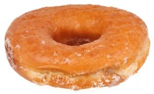 写真=一般的なドーナツは中心に穴が開いている