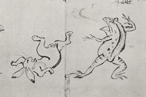 写真=主要な登場人物の兎と蛙