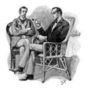 画像=シャーロックホームズとワトソン