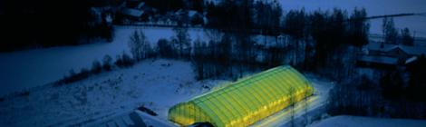 フィンランドのエメラルド・スノー採掘場