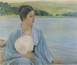 写真=洋画家・黒田清輝による『湖畔』(1897年)